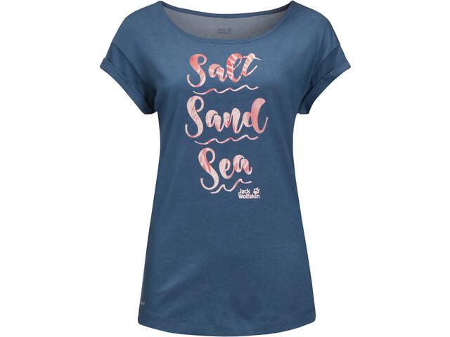 Jack Wolfskin Salt Sand Sea T-shirt Femme, ocean wave